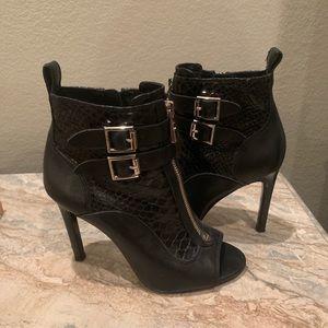 "Vince Camuto Shoes - Vince Camuto Black Kammie Booties 4"" Heels 5.5"